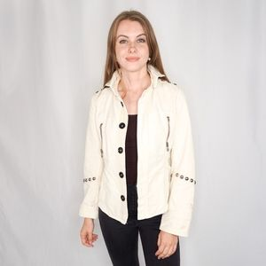 ZADIG & VOLTAIRE Studded Vintage Cotton Jacket 830